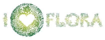 Eu amo a flora Foto de Stock Royalty Free