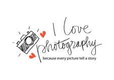Eu amo a fotografia Imagens de Stock Royalty Free