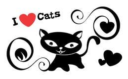 Eu amo gatos Foto de Stock Royalty Free