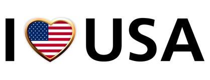 Eu amo a ilustração dos EUA. EPS 8 ilustração stock