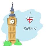 Eu amo Inglaterra Imagem de Stock Royalty Free