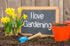 Eu amo jardinar foto de stock royalty free