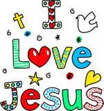 Eu amo Jesus ilustração royalty free