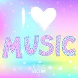 Eu amo a música Foto de Stock Royalty Free