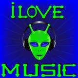 Eu amo a música 1 ilustração royalty free