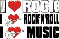 Eu amo a música rock Fotografia de Stock