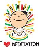 Eu amo a meditação Foto de Stock Royalty Free