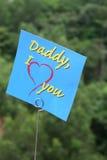 Eu amo a mensagem do paizinho Fotos de Stock Royalty Free