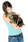 Eu amo meu filhote de cachorro Fotografia de Stock
