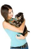 Eu amo meu filhote de cachorro Imagem de Stock