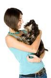 Eu amo meu filhote de cachorro Imagens de Stock