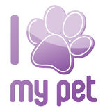 Eu amo meu projeto da ilustração do animal de estimação Fotos de Stock Royalty Free