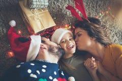 Eu amo meus pais muito, eles faço-me feliz nos feriados imagem de stock royalty free