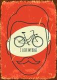 Eu amo minha bicicleta ilustração royalty free