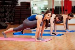 Eu amo minha classe da ioga fotos de stock