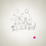 Eu amo minha família Imagem de Stock