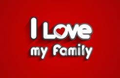 Eu amo minha família Fotos de Stock Royalty Free