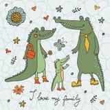 Eu amo minha família ilustração do vetor