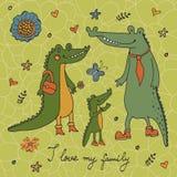 Eu amo minha família Foto de Stock