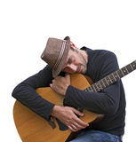 Eu amo minha guitarra Imagens de Stock Royalty Free