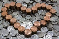 Eu amo minhas moedas de um centavo Fotos de Stock