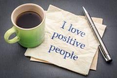 Eu amo a nota positiva dos povos Imagem de Stock Royalty Free
