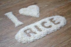Eu amo o arroz Fotografia de Stock