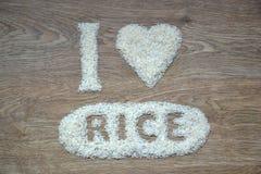 Eu amo o arroz Fotos de Stock