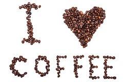 Eu amo o café Imagem de Stock