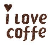 Eu amo o café Imagens de Stock Royalty Free