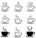 Eu amo o café ilustração stock