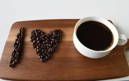 Eu amo o café Fotografia de Stock Royalty Free