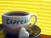 Eu amo o café Fotos de Stock