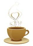 Eu amo o café ilustração do vetor