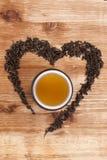 Eu amo o chá. Imagens de Stock