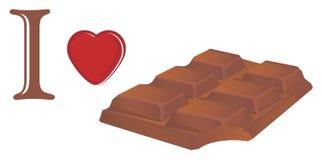 Eu amo o chocolate ilustração royalty free