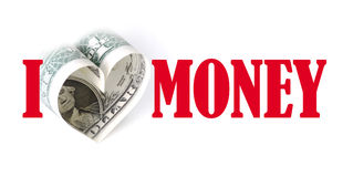 Eu amo o dinheiro Foto de Stock Royalty Free