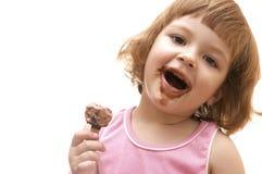 Eu amo o gelado! Fotos de Stock