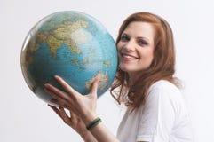 Eu amo o globo imagens de stock royalty free