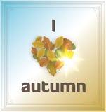 Eu amo o outono Fotografia de Stock