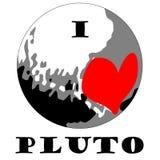 Eu amo o Plutão Fotos de Stock Royalty Free