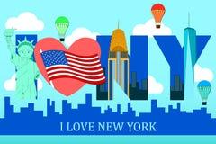 Eu amo o poster de New York Imagens de Stock