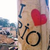 Eu amo o Rio foto de stock