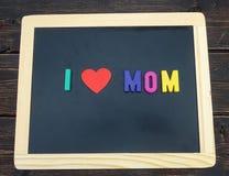 Eu amo o sinal da mamã Imagens de Stock Royalty Free