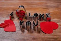 Eu amo-o -valantines cartão Foto de Stock Royalty Free