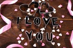 Eu amo-o -valantines cartão Fotografia de Stock Royalty Free