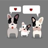Eu amo o vetor dos cães Foto de Stock Royalty Free