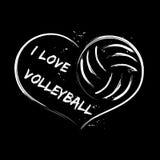 Eu amo o voleibol Fotos de Stock Royalty Free