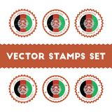 Eu amo os selos do vetor de Afeganistão ajustados Foto de Stock Royalty Free
