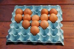 Eu amo ovos Imagens de Stock Royalty Free